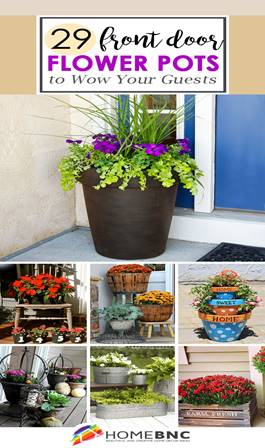 Front Door Flower Pots that will Add Personality to Your Home.