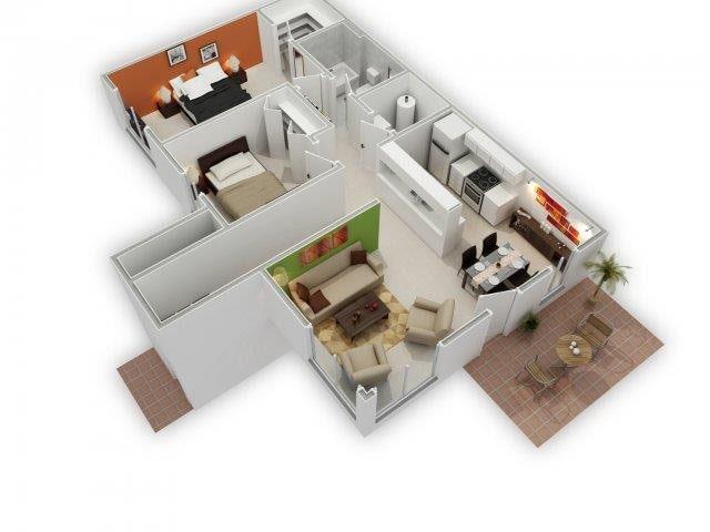 Blossom 3D Floor Plan
