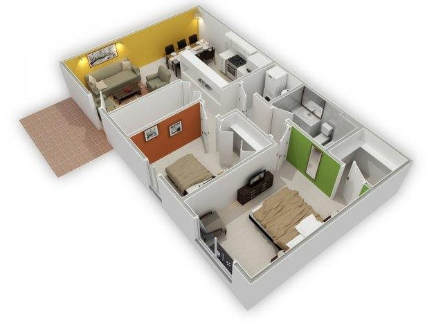 Magnolia 3D Floor Plan