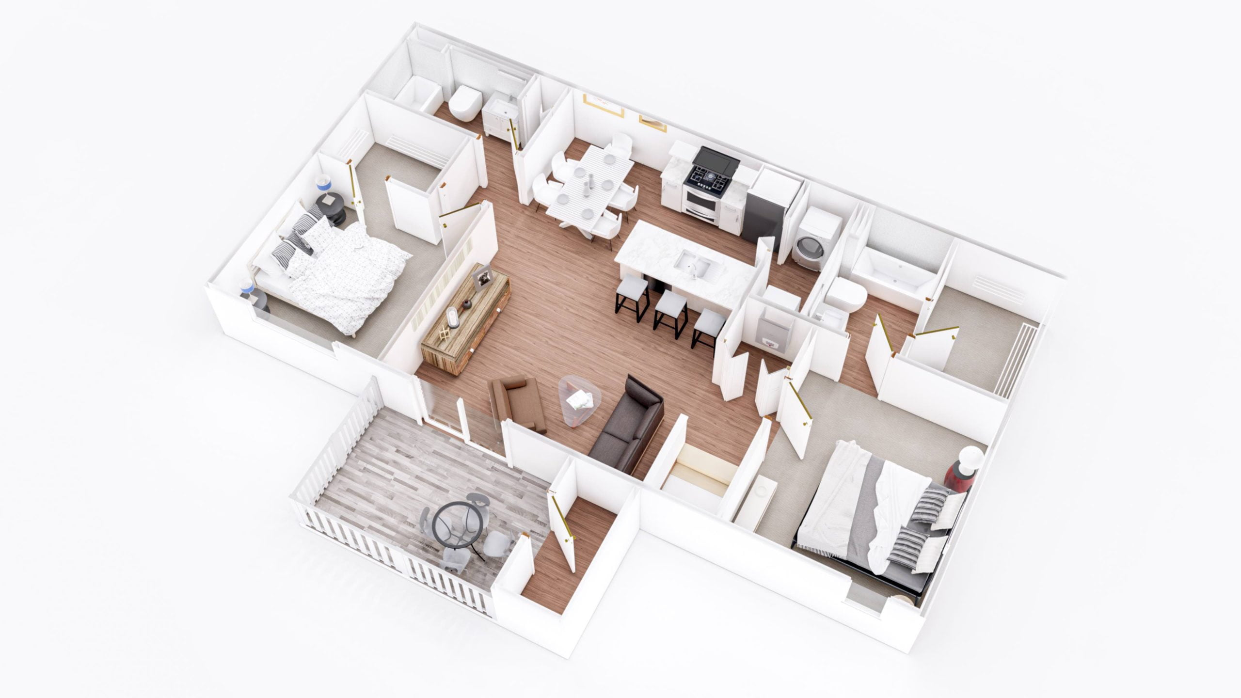 Chestnut 3D Floor Plan