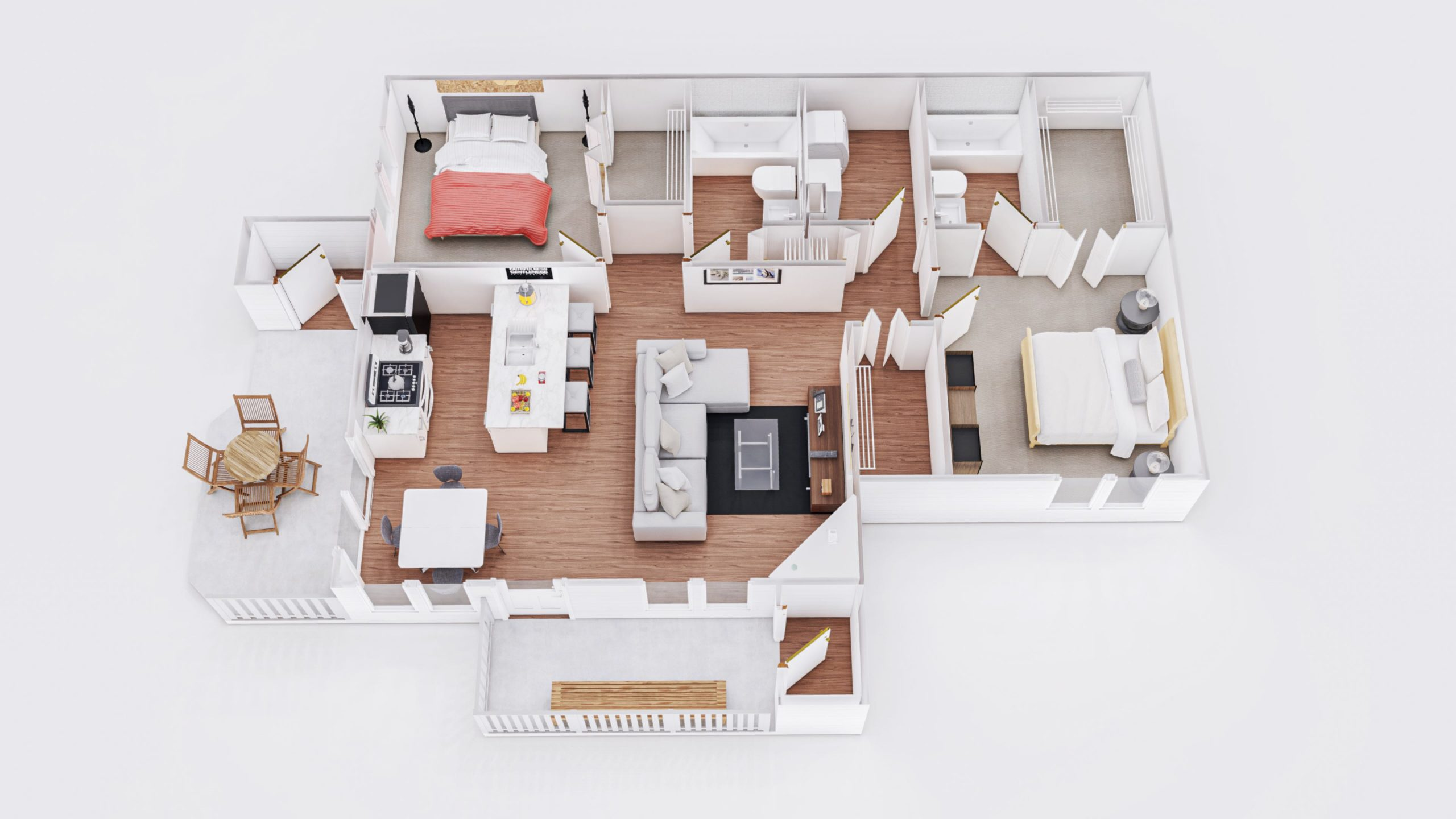 Sunrise 2 3D Floor Plan