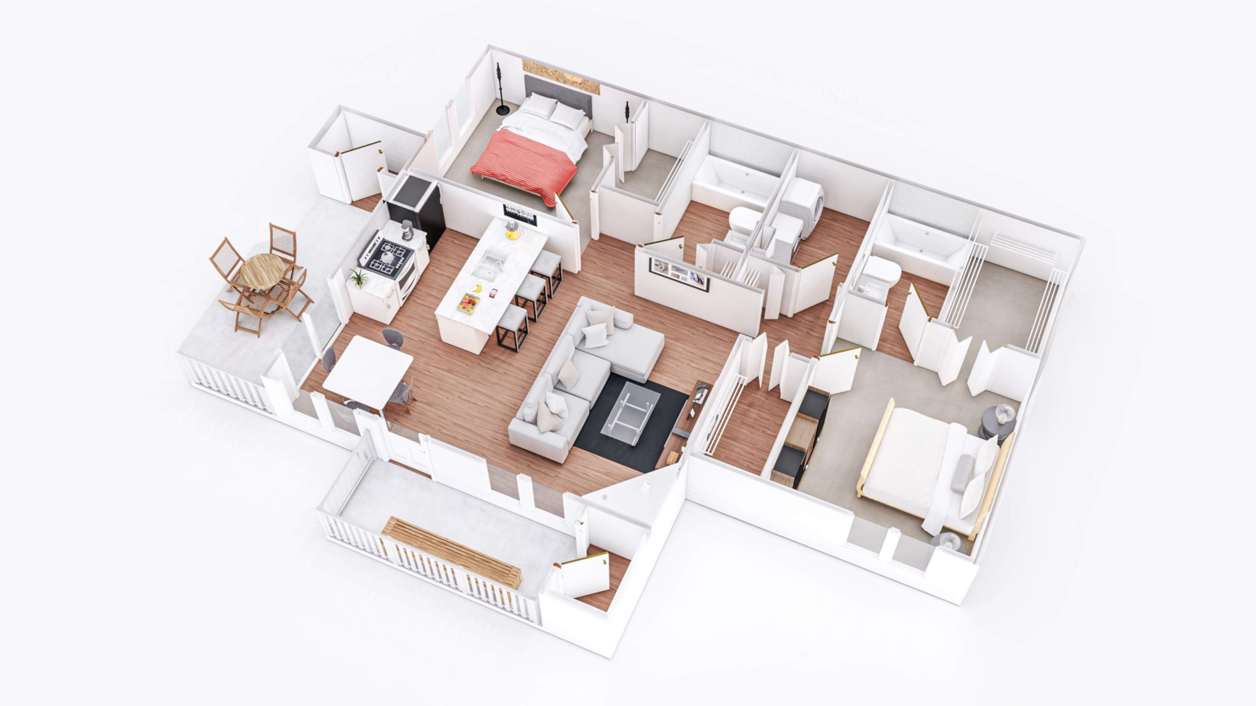 Sunrise 3D Floor Plan